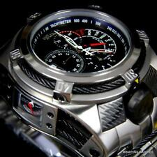 Invicta Bolt Zeus Tria Silver Tone Steel Black 3 Swiss Mvt Dials 52mm Watch New