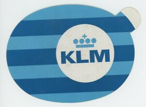 1960s KLM Royal Dutch Airlines Luggage Label Sticker Vintage Travel Air Line