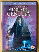 Storm of the Century DVD 1999 Stephen King Horror Mini Series Rare UK Release