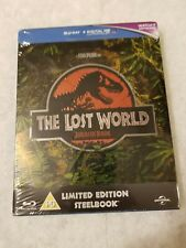 Jurassic Park Lost World STEELBOOK Blu Ray UK EMBOSED SOLD OUT Limited Ed SEALED