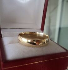 Large 9ct Yellow Gold Wedding Band Ring c.1990s Birmingham - size Z