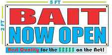 Bait Now Open Banner Sign New Larger Size Best Quality for the $