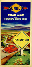 1946 Pennsylvania Road Map from the Sun Oil Co. (SUNOCO)