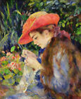 Marie Therese Durand Ruel Sewing Pierre Auguste Renoir Wall Art Print on CANVAS
