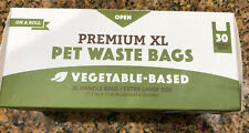 Dog Waste Disposal Bags Biodegradable Poop Bag Cat Litter Unscented Xl 30 Piece