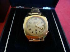 Large Vintage 1973 Bulova Accuquartz Date Diamond Dial Watch With Fancy Box