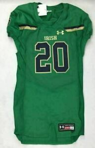 Under Armour Notre Dame Fighting Irish Football Jersey Men's L #20 Green UF025JM