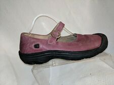 Keen Calistoga Plum Leather Flower Bumper Toe Mary Jane Shoes Womens 11 Casual