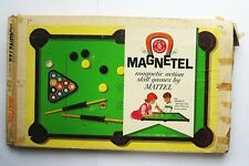 1961 MAGNETEL Pool Toy Game Set in Box Incomplete With Cue Stick Vintage Mattel