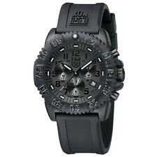EMS ! Luminox Colormark Navy Seals 3081 BO Blackout Chronograph Diver Watch NEW