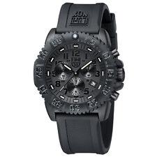 EMS ! Luminox Colormark Navy Seals 3081 BO Blackout Chronograph Diver Watch NEW