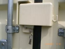 Shipping Container Lock Box & Pad Lock Set - Security from thieves - Incl Post