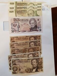 450 Austria schilling banknotes currency