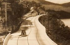 Vintage Postcard Real Photo Highway Lookout Mt. Chattanooga old cars 1930-1950