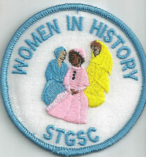 "South Texas Girl Scout Council Patch ""Women in History"" (merged with San Jacinto"