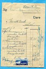 1938 ERITREA P.AEREA £.1 (Sass.21) ISOLATO E USATO COME MARCA DA BOLLO  (877075)