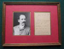 Signed Letter from French Belle Époque Jules Émile Frédéric Massenet 1887