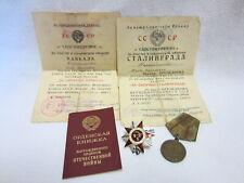 Rußland - 2 URKUNDEN - ORDEN - Paß - 2.Weltkrieg - ORIGINAL UNTERSCHRIFT !!!!