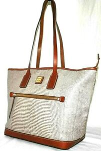 Dooney & Bourke Lizard Leather Tote, color Taupe $269  A394690