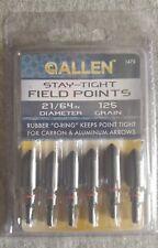 """Arrow Field Points Target Tips - 6 PACK - 125 Grain - 21/64"""" - Allen Stay Tight"""