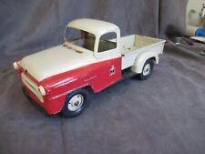 "Vintage 1956 Tru-Scale International A-100 Pick Up 12- 1/2"" Truck Red & Cream"