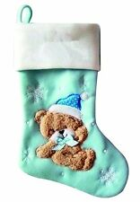 Personalised Christmas Stocking High Quality Deluxe Xmas Stockings Add Your Name Teddy Bear No Thanks