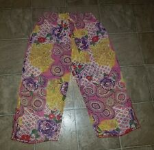 JOSIE SZ SMALL CROP PAJAMA PANTS SHEER COLORFUL CAPRI SLEEP WOMEN S A2