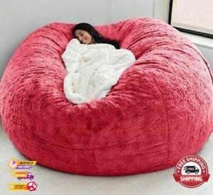Microsuede 7ft Form Giant Memory Living Room Sofa Cover Bean Bag Lazy Sofa Cover