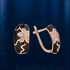 Russian Gold Earings Ohrringe mit Fianiten OR14634