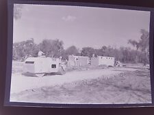 "Photo Negative Antique Steam Roller Road Paver At Construction Site 2¼"" X 3¼"""