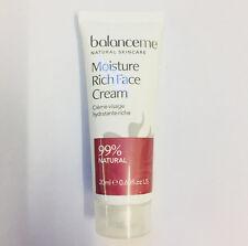 Balance Me Moisture Rich Face Cream 20ml Travel Size NEW & SEALED - FREE P&P