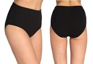 6er Pack Damenunterhose Übergröße Slip Schwarz Panty 100% Baumwolle XL-3XL