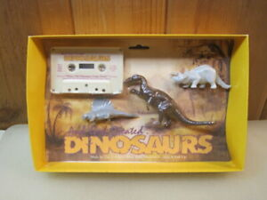 1987 And God Created Dinosaurs Cassette Tape & Figures Bible Study Toy B4370