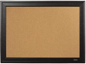 """11"""" x 17"""" Cork Board in Board Framed Corkboard Black Frame Brown NEW"""