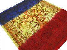 Arbre de vie Couvre-lit Batik Fait à la main Tenture Coton Inde Hippie Boho A9