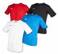 ASICS Herren T-Shirt 100% Baumwolle Sportshirt Kurzarm Rundhalsausschnitt