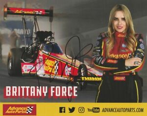 2019 Brittany Force signed Advance Auto Parts Top Fuel NHRA postcard