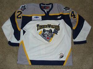 BCHL Williams Lake Timber Wolves Vintage 04-05 Game Worn Hockey Jersey Galan #24
