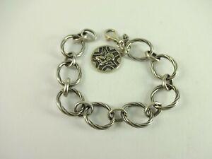 "Sterling Silver Silpada "" Watch Over Me "" Guardian Angel Charm Bracelet B1959"