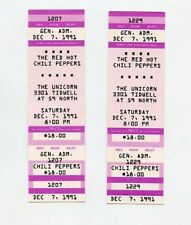 Red Hot Chili Peppers 1991 Unused Texas Concert Tickets (2)