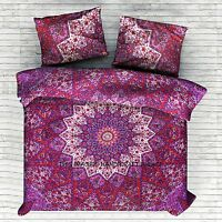 Indian Duvet Doona Cover Comforter Psychedelic Mandala Hippie Queen Quilt Cover