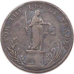 1795 GREAT BRITAIN SUFFOLK BUNGAY 1/2 PENNY D&H - 21 CONDER TOKEN - CIRCULATED!