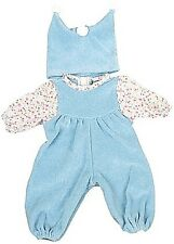 Puppenkleid Babyoverall mit Mütze hellblau Gr. 42-48 cm