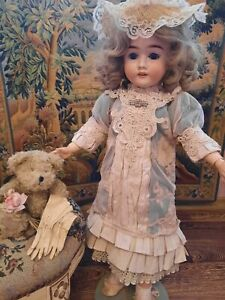 """French victorian dress 15"""" for antique/ vintage bisque German doll 24-26"""""""