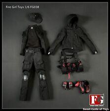 1/6 Fire Girl Toys FG038 Female Dark Night Gunner Uniform Set For DAM Hot Toys