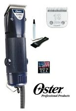 Oster A5 TURBO 1 Speed HEAVY DUTY CLIPPER SET ,Cryogen X 10 Blade*Pet Dog Horse