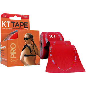 "KT Tape Pro 10"" Precut Kinesiology Elastic Sports Roll - 20 Strips - Red"