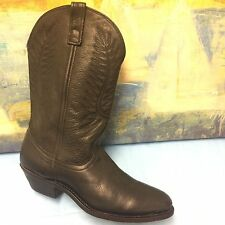 Black Leather Cowboy Western Boots Women's Size 8M  #51071