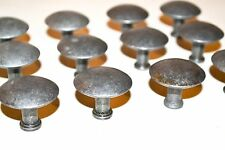 Industrial Round Pewter tone vintage style drawer cabinet pulls lot 12 K62