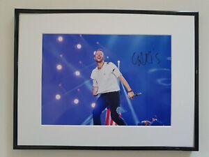 "CHRIS MARTIN COLDPLAY SIGNED PHOTO 16X12"" FRAMED AUTOGRAPH + COA"